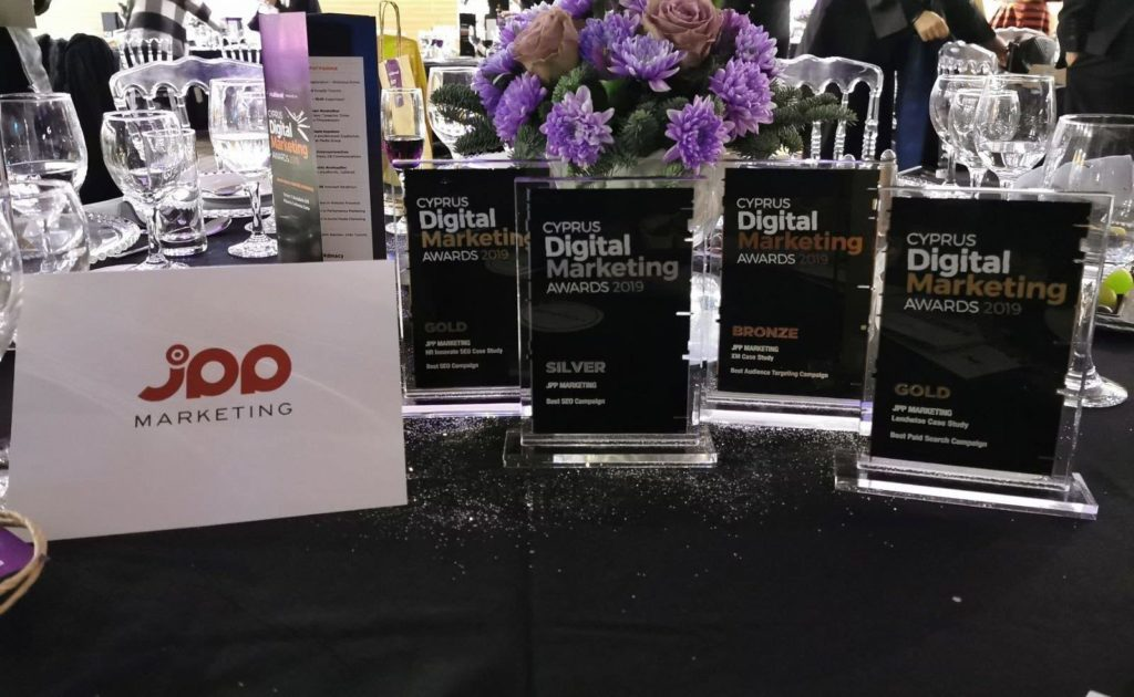 jpp marketing awards table