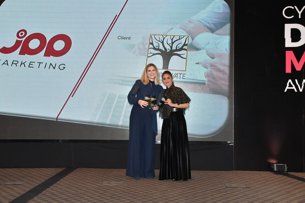 julia papageorgiou awarded cyprus digital marketing awards 2019